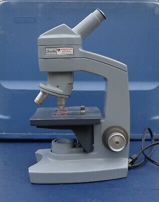 Vintage Ao American Optical Company Sixty 60 Monocular Microscope 10x 43x