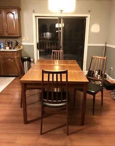 Large Table Set with 4 Chairs