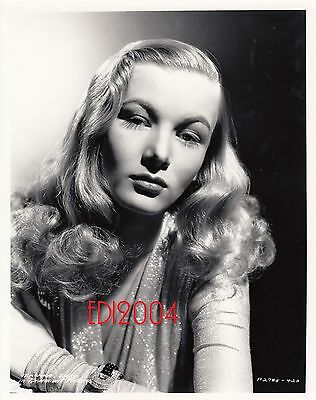 VERONICA LAKE Older Restrike Photo 1940s Shimmering Seductress Portrait, Fashion