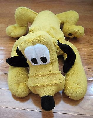 Pluto Disneyland Green Collar Stuffed Plush Walt Disney World Dog 18 inches