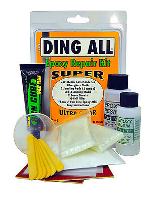 Ding All Super Epoxy Surfboard Repair Kit NEW SUP paddleboard windsurfer