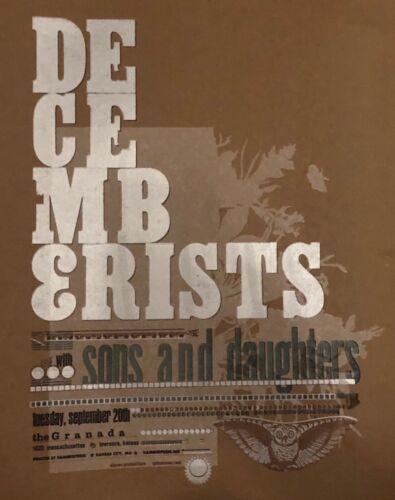 Decemberists / Sons & Daughters show poster screenprint (ORIGINAL)