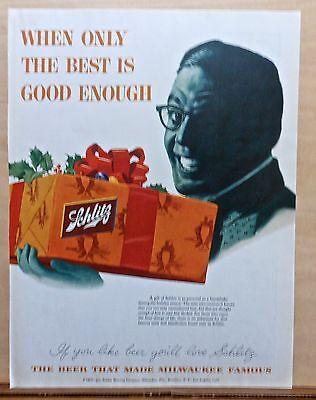 1954 magazine ad for Schlitz Beer - Christmas gift of Schlitz, send the