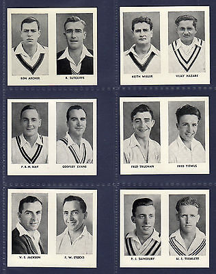 Thomson THE WORLDS BEST CRICKETERS (Doubles) - Scarce untrimmed 1956  SET