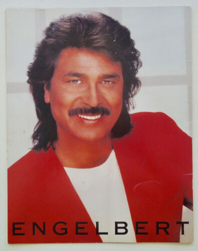 ENGELBERT HUMPERDINCK 1988 USA TOUR -- ALL COLOR LARGE 11x14 FORMAT PHOTO BOOK