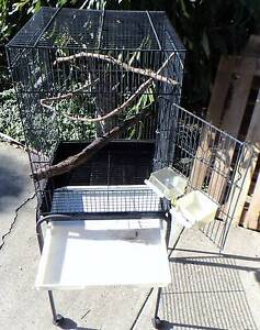Bird cage on stand with castors Loganlea Logan Area Preview