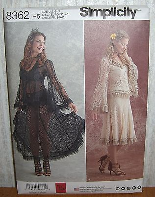 Womens/Misses Lace Blouses Tops Skirts Sewing Pattern/Simplicity 8362/SZ 6-14/N