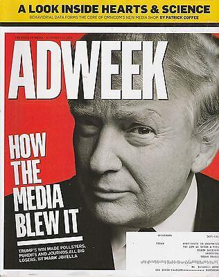NOV 14 2016 ADWEEK magazine DONALD TRUMP