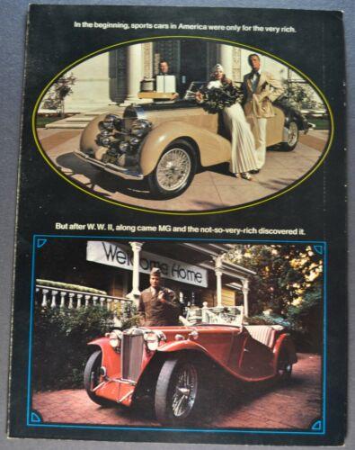1974 MG MGB Midget MGB/GT Sales Brochure Folder Excellent Original 74