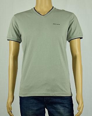 Armani Jeans Mens Gray Regular Fit V-Neck T-Shirt