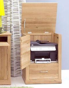 Mobel solid oak office furniture printer storage cupboard cabinet unit