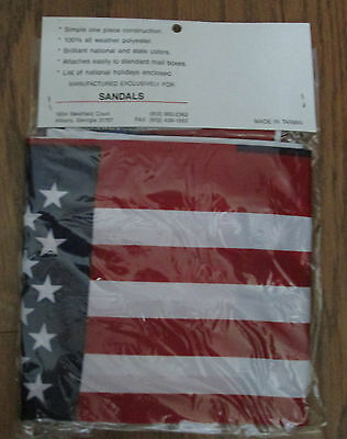 Mail Box Banner NIP United States American Flag 100% All Weather Polyester -