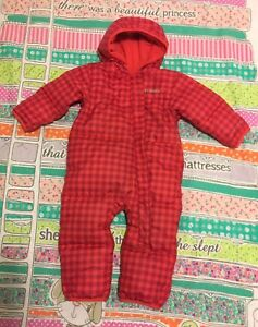 Columbia down filled girl's bunting snowsuit 12-18 months