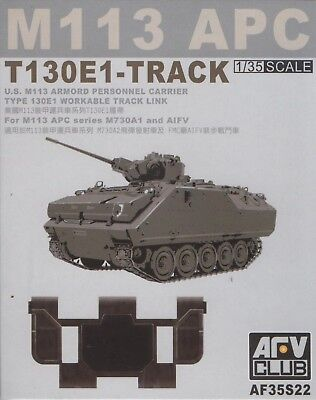 AFV Club 1/35 AF35S22 T130E1 WORKABLE Track Link for M113 APC M730A1 AIFV