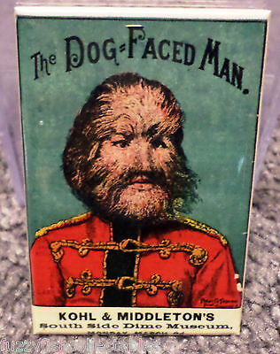"Dog Face Man Freak Show Circus Vintage Poster 2"" x 3"" Refrigerator Locker MAGNET"