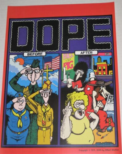 Dope Before & After Poster Gilbert Shelton Freak Brothers + FREE Pat Ryan Art