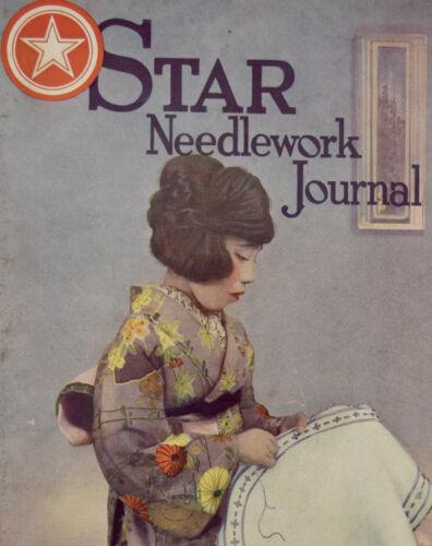 1921 Star Needlework Journal Antique Sewing Magazine 1900s Japanese Kimono