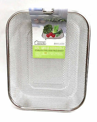 Stainless Steel Mesh Sifting Sifter Vegetable Sieve Colander Basket Drainer 9