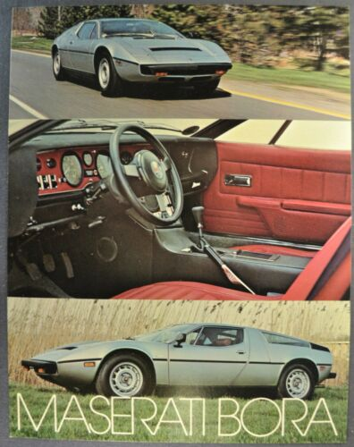 1973-1974 Maserati Bora Gran Turismo Sales Brochure Sheet GT Excellent Original