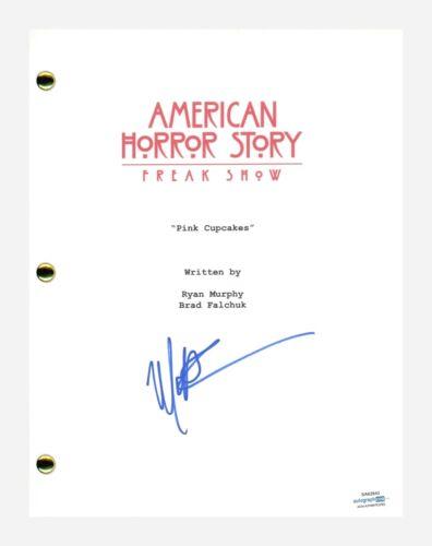 Matt Bomer Signed American Horror Story Freak Show E5 Script Transcript ACOA COA