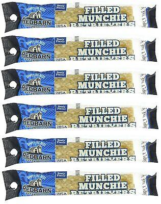 (6 Pack) Redbarn - Filled Munchie Retriever Roll, covid 19 (Red Barn Beef Roll coronavirus)