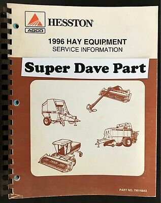 Hesston 1996 Hay Equipment Service Information Manual Part 79016843
