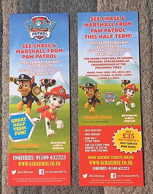 Chase & Marshall : Paw Patrol Flyer - Great Central Railway, Leicestershire 2017
