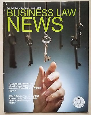 Business Law News State Bar Of California Issue 4 2015
