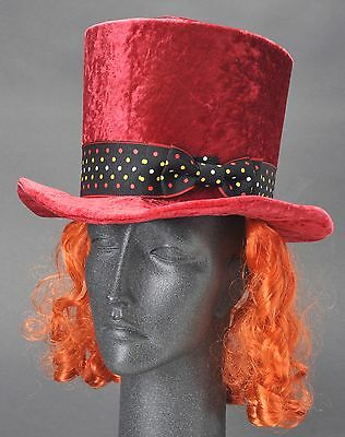 Disney Parks Mad Hatter Top Hat w Hair Youth New w Tag Costume Halloween Cosplay (Original Mad Hatter Costume)