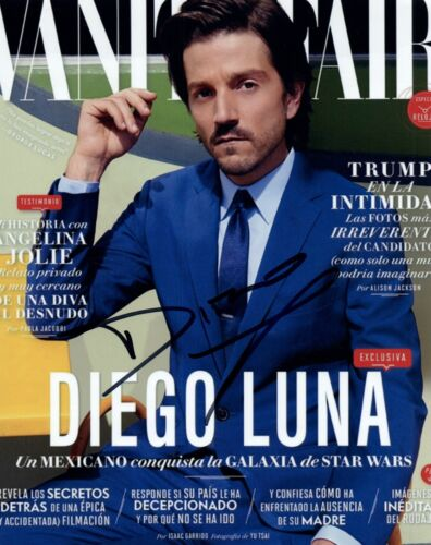 Diego Luna Signed Autographed 8x10 Photo Star Wars Rogue One Narcos Mexico COA