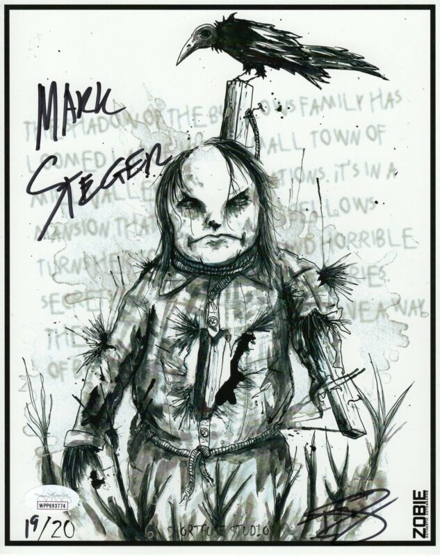 Mark Steger Autograph 8x10 Art Print Scary Stories to tell in the Dark Harold JS