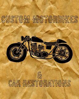 Custom motorbikes and car restorations