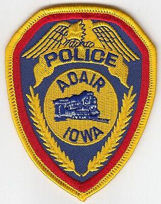 ADAIR IOWA POLICE PATCH IA TRAIN