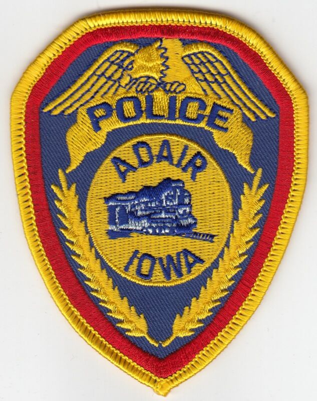 ADAIR IOWA POLICE PATCH IA TRAIN