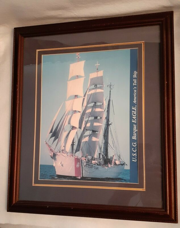 Framed/Matted Picture USCG Eagle America's Tall Ship 295 Barque CAPT Bob Papp
