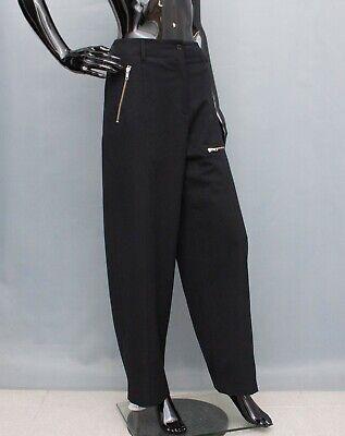 IVAN GRUNDAHL Pants Trousers Black Wide Legs Baggy 38 UK12