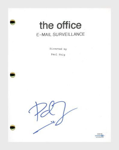 Paul Feig Signed Autograph THE OFFICE Email Surveillance Episode Script ACOA COA