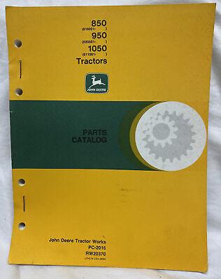 John Deere 850 950 1050 Tractor Parts Catalog Manual Pc-2016 Rw20370
