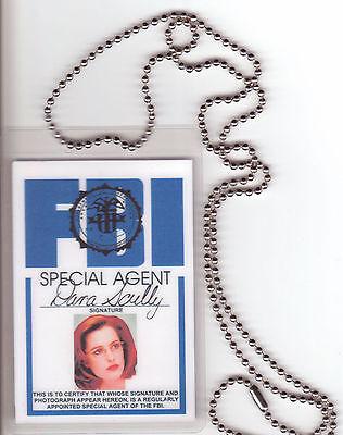 Dana Scully Xfiles X-Files BADGE ID card Identification Halloween Costume Item (Halloween X Files)