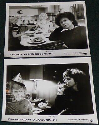 THANK YOU AND GOODNIGHT 1992 ORIGINAL SET OF 2 BLACK & WHITE PRESS PHOTO STILLS