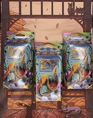 Vivid Voltage (3) Drednaw Theme Deck Pokemon Trading Card Game - NEW SEALED PSA!
