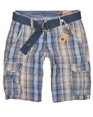 Blau Karierte Cargo-shorts (TIMEZONE Herren Cargoshorts Maguire Short kurze Hose Shorts 3885 Blau kariert)