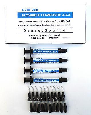 Light Cure Flowable Composite 4 Syringe Kit Shade A3.5
