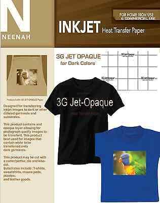 Neenah 3g Inkjet Heat Transfer Paper For Dark Colors 8.5x11 50 Sheets