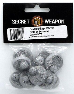 Secret Weapon BHW2501 25mm Field of Screams (Beveled Edge Bases) Halloween Theme - Halloween Theme Games