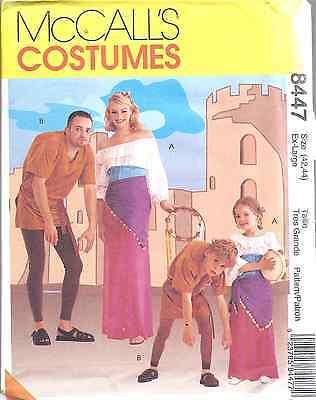 8447 UNCUT McCalls SEWING Pattern Hunchback Gypsy Costume Halloween SEW FF OOP - Gypsy Halloween Costume Pattern
