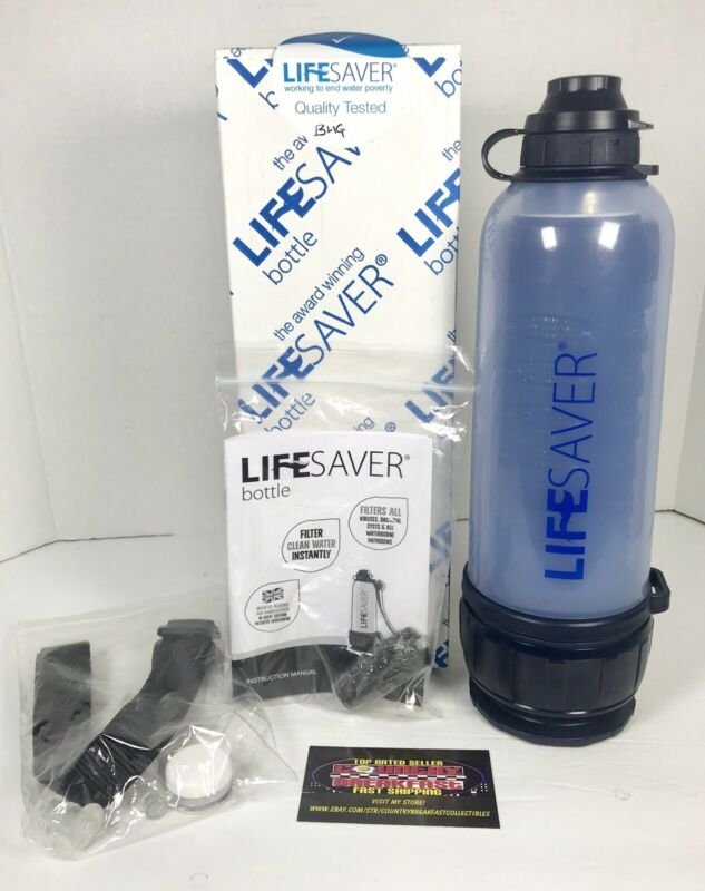 LIFESAVER Bottle 6000UF Water Filtration Purifier PRD0101 Carry Strap New In Box