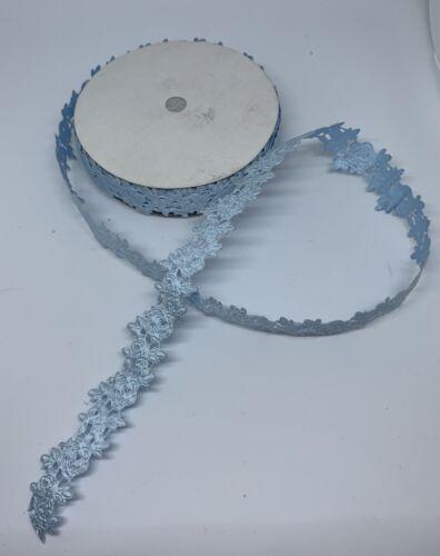 20 Yds 1 Roll Blue DIY Craft Flower Fabric Decoration Embroidered Scrapbook  - $9.99