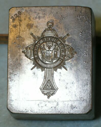 Antique 1913 KNIGHTS TEMPLAR Badge Stamping Die MC LILLEY