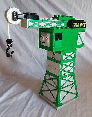 Lego Duplo Train Cranky the Crane green & gray good used condition